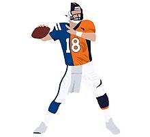 Peyton Manning Colts Broncos Combo Photographic Print