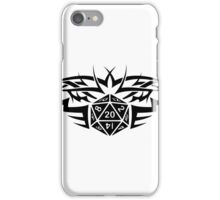 Tribal Dice black iPhone Case/Skin