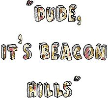 Dude, Its Beacon Hills (Floral) Photographic Print