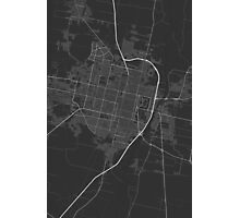 San Miguel de Tucuman, Argentina Map. (White on bl Photographic Print