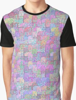 Melting Ice Cream Popsicle Crowded Pattern Graphic T-Shirt