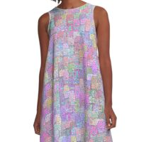 Melting Ice Cream Popsicle Crowded Pattern A-Line Dress