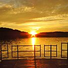 Frog Hollow Lake at Sunset  by lorilee