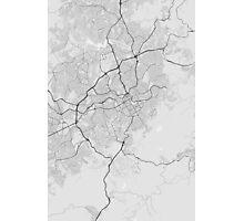 Belo Horizonte, Brazil Map. (Black on white) Photographic Print