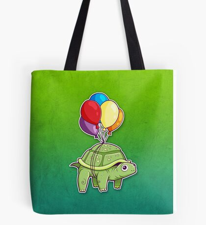 Turtle - Balloon Fun Tote Bag