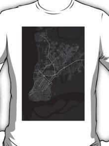 Belem, Brazil Map. (White on black) T-Shirt