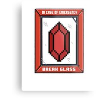 Break Glass for Emergency Money Metal Print