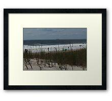 Dune, Grass, Ocean Framed Print