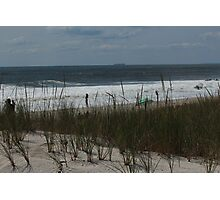 Dune, Grass, Ocean Photographic Print