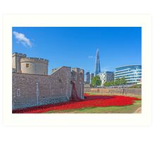 Poppies in the Moat Art Print
