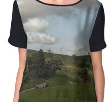 Clouds, Hills and Spring Chiffon Top