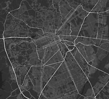 Curitiba, Brazil Map. (White on black) by Graphical-Maps