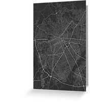Curitiba, Brazil Map. (White on black) Greeting Card