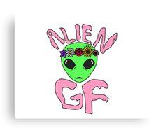 Alien Girlfriend Canvas Print