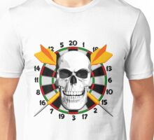 Darts Champ Skull Unisex T-Shirt