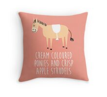 Cream coloured ponies Throw Pillow