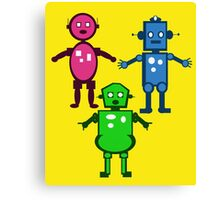 Robot Trio  Canvas Print