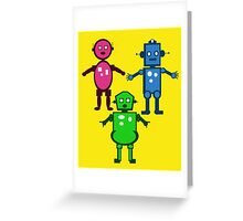 Robot Trio  Greeting Card