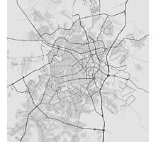 Goiania, Brazil Map. (Black on white) Photographic Print