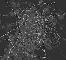 Goiania, Brazil Map. (White on black) by Graphical-Maps