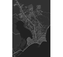 Maceio, Brazil Map. (White on black) Photographic Print