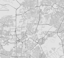 Manaus, Brazil Map. (Black on white) Sticker
