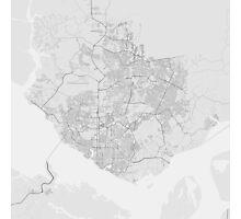 Manaus, Brazil Map. (Black on white) Photographic Print
