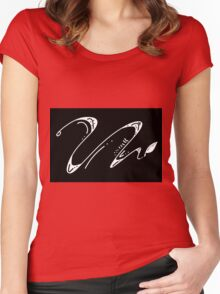 Quill-Negative Women's Fitted Scoop T-Shirt