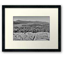 Big Bear Lake-HDR  Framed Print