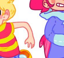 Lucas and Kumatora Running Sticker