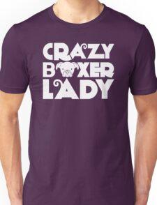 Crazy Boxer Lady Unisex T-Shirt