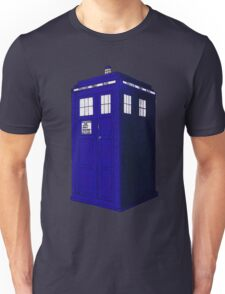 Tardis - Hand Drawn and Colored Unisex T-Shirt