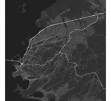 Sao Goncalo, Brazil Map. (White on black) Photographic Print