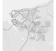 Sao Luis, Brazil Map. (Black on white) Photographic Print