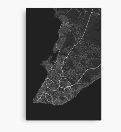 Salvador, Brazil Map. (White on black) Canvas Print