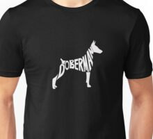DOBERMANS SPELL LOVE Unisex T-Shirt