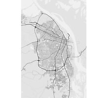 Barranquilla, Colombia Map. (Black on white) Photographic Print