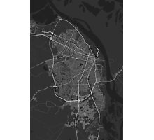 Barranquilla, Colombia Map. (White on black) Photographic Print