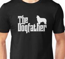 The Dogfather Border Collie T-Shirts Father Dog Lover Gifts Unisex T-Shirt