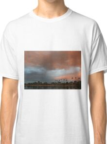 Blue and pink January sky Classic T-Shirt