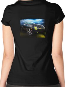 Chevy SSR Night Life – Hot Rods Live Lives All Their Own ~:0) Women's Fitted Scoop T-Shirt