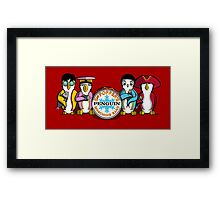 Sgt Poppers Penguin Marching Band Framed Print