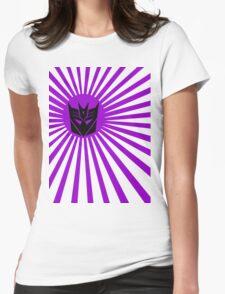 Decepticon Sunburst Womens Fitted T-Shirt