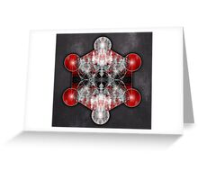 Metatron's Cube red Greeting Card