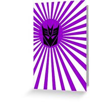 Decepticon Sunburst Greeting Card