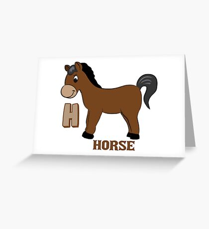 H is for Horse Greeting Card