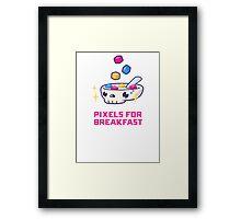 Pixels For Breakfast Framed Print