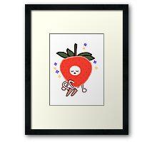 lil strawberry kiddo Framed Print