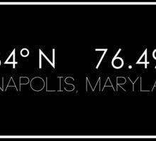 Annapolis Coordinates Sticker