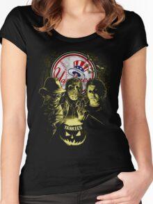 New York Yankees Halloween T-shirt  Women's Fitted Scoop T-Shirt